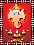 Cartão abstrato do diwali ilustração royalty free