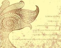Cartão abstrato do pavão Imagens de Stock
