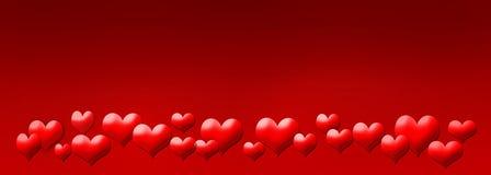 Cartão abstrato do Valentim Fotos de Stock Royalty Free