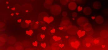 Cartão abstrato do Valentim Fotografia de Stock
