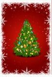 Cartão abstrato do xmas no cartão de Natal ilustração royalty free