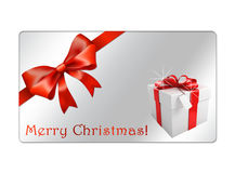Cartão abstrato dos globos do Natal - giftcards Fotografia de Stock