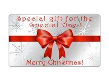 Cartão abstrato dos globos do Natal - giftcards Fotografia de Stock Royalty Free