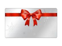 Cartão abstrato dos globos do Natal - giftcards Fotos de Stock Royalty Free