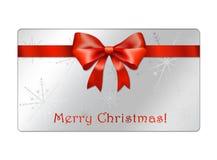 Cartão abstrato dos globos do Natal - giftcards foto de stock royalty free