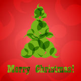 Cartão abstrato eps10 da árvore de Natal Imagem de Stock Royalty Free