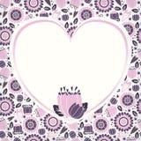 Cartão agradável da flor Fotografia de Stock Royalty Free