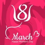Cartão agradável do dia das mulheres s, o 8 de março Foto de Stock Royalty Free