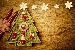 Cartão alegre da árvore de Natal Copyspace Imagens de Stock Royalty Free