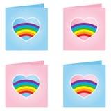 Cartão alegre do Valentim - ilustração do vetor Fotos de Stock Royalty Free
