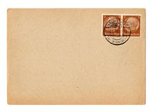 Cartão alemão Hindenburg do Reich Fotos de Stock Royalty Free