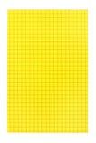 Cartão amarelo Imagem de Stock