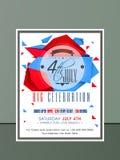 Cartão americano do convite do Dia da Independência Imagem de Stock