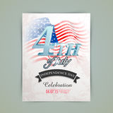 Cartão americano do convite do Dia da Independência Fotos de Stock Royalty Free