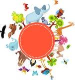 Cartão animal ilustração stock