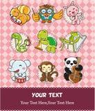 Cartão animal da música do jogo ilustração royalty free