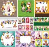 Cartão animal da música do jogo Foto de Stock Royalty Free