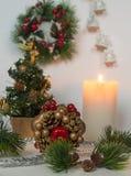 cartão Ano novo feliz e Feliz Natal! Foto de Stock Royalty Free