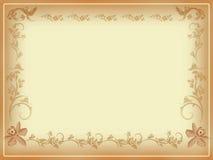 Cartão antigo da beira ou de nota Fotografia de Stock Royalty Free