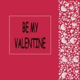 Cartão ao dia de Valentim Fotos de Stock