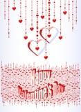 Cartão ao dia do Valentim ilustração do vetor
