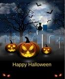 Cartão assustador para Dia das Bruxas Fotos de Stock