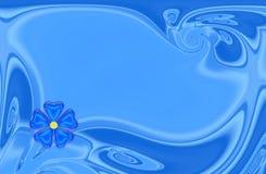 Cartão azul Imagem de Stock Royalty Free
