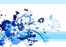 Cartão azul Imagens de Stock