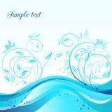 Cartão azul abstrato Imagem de Stock Royalty Free