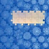 Cartão azul do conceito do Natal. + EPS8 Imagem de Stock