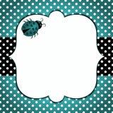 Cartão azul do dia de pais do joaninha ilustração stock