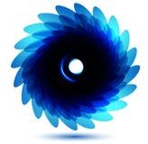 Cartão azul do vetor da flor do crisântemo do vetor. ilustração stock