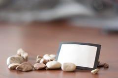 Cartão bem-vindo das pedras do mar Fotografia de Stock Royalty Free