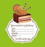 cartão birtday feliz do convite Fotos de Stock Royalty Free