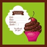cartão birtday feliz do convite Imagem de Stock
