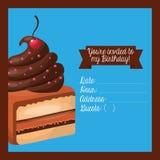 cartão birtday feliz do convite Imagens de Stock