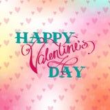 Cartão bonito ao dia de Valentim Imagem de Stock Royalty Free