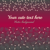 Cartão bonito com flores Imagens de Stock