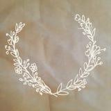 Cartão bonito com o ramalhete da flor do louro no fundo de papel Fotografia de Stock Royalty Free