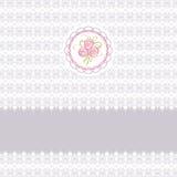 Cartão bonito com rosas ilustração royalty free