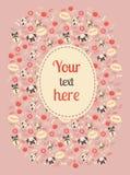 Cartão bonito da cor do cão Fotografia de Stock