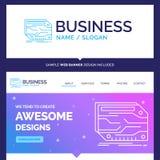 Cartão bonito da marca do conceito do negócio, componente, costume, e ilustração stock