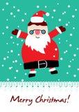 Cartão bonito de Santa Ilustração do Vetor