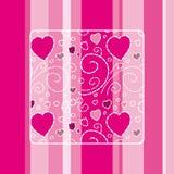 Cartão bonito do amor Fotos de Stock