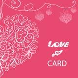 Cartão bonito do amor do vetor Imagem de Stock Royalty Free