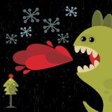 Cartão bonito do ano novo do dragão. Fotografia de Stock Royalty Free