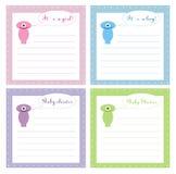 Cartão bonito do convite do chuveiro de bebê 4 Fotografia de Stock Royalty Free