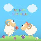 Cartão bonito do feliz aniversario Foto de Stock