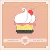 Cartão bonito do feliz aniversario Fotos de Stock Royalty Free