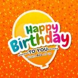 Cartão bonito do feliz aniversario Imagens de Stock Royalty Free